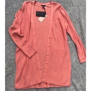 Halogen 🌵 coral open front button down cardigan